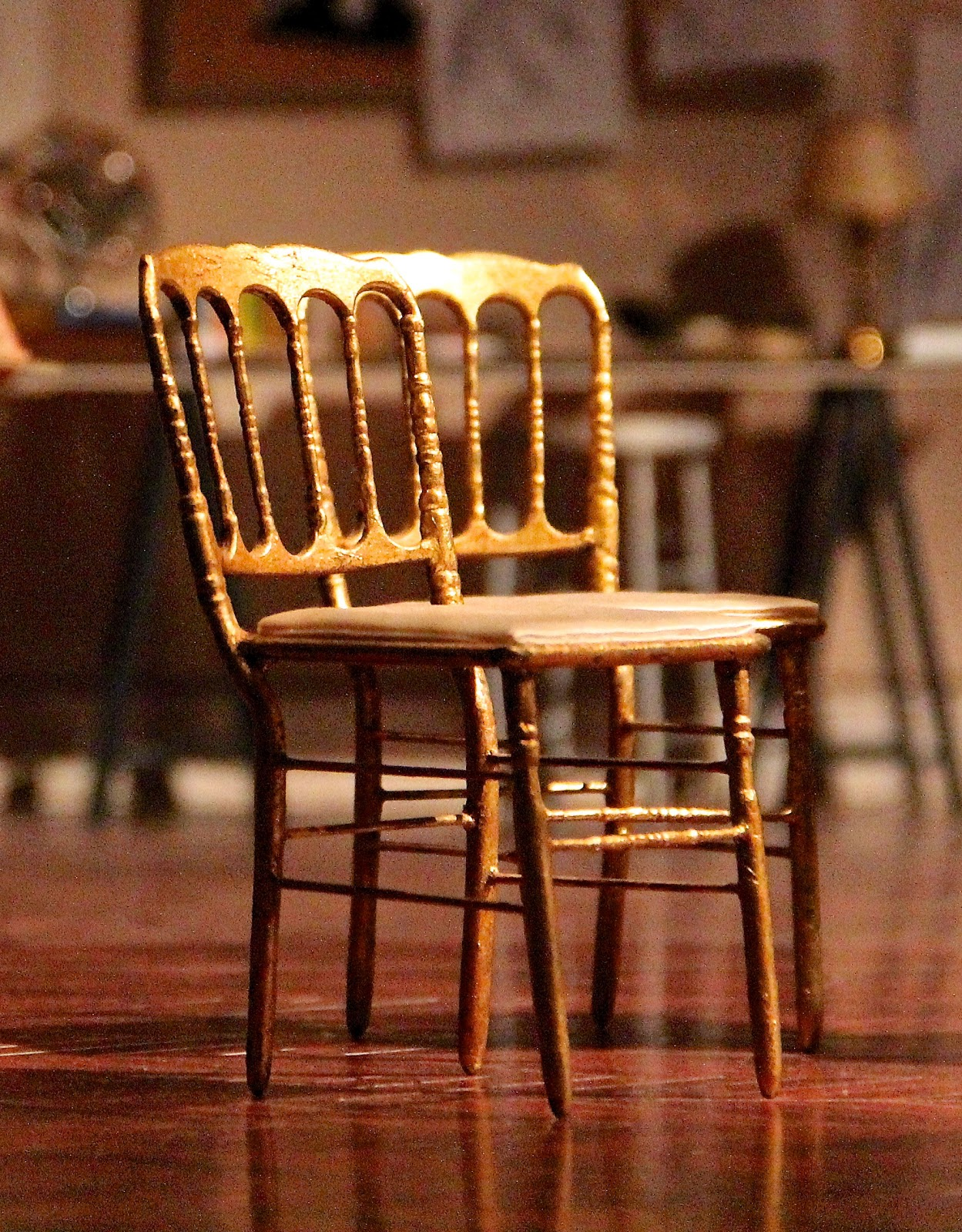 Modern Miniatures by Dragondee Chiavari Gold Chair