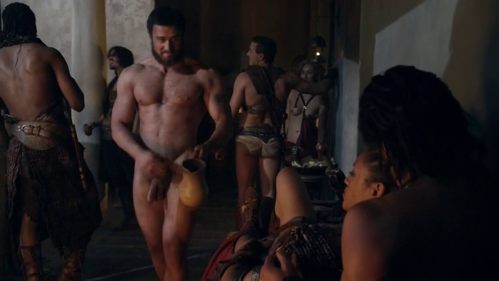 Male Celeb Screencaps: Frontal In Spartacus War of the Damned S03E03