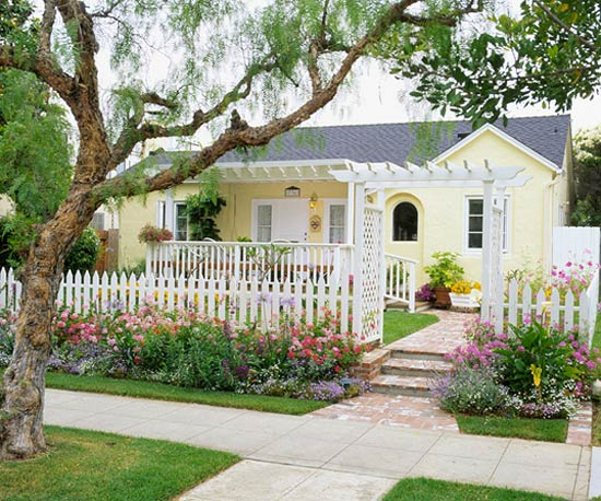 Examples Of Front Of House Landscaping : New home interior design front yard landscape secrets