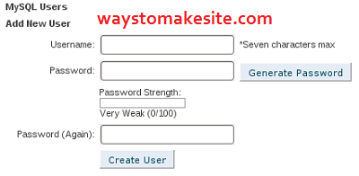 Create a MySQL user in HostGator