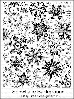 "Our Daily Bread designs ""Snowflake Background"""