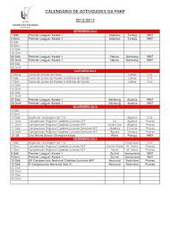 Calendário FNKP 2014 - 2015