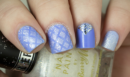 Baby Blue Quilted Nail Art The Nailasaurus Uk Nail Art Blog