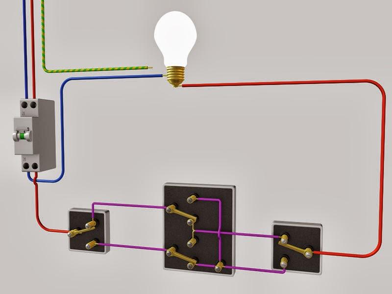 Schema d 39 installation va et vient 3 interrupteurs schema for Brancher 3 va et vient
