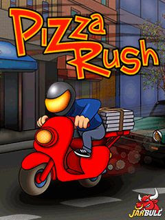 Screenshots of the Rush Pizza for java mobile, phone.