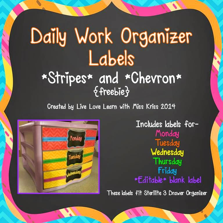 http://www.teacherspayteachers.com/Product/Daily-Work-Organizer-Labels-freebie-1274029
