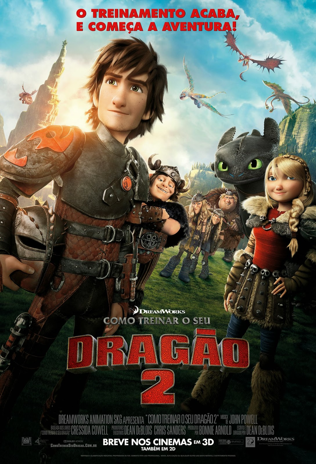 Pôster/capa/cartaz nacional de COMO TREINAR O SEU DRAGÃO 2 (How to Train Your Dragon 2)