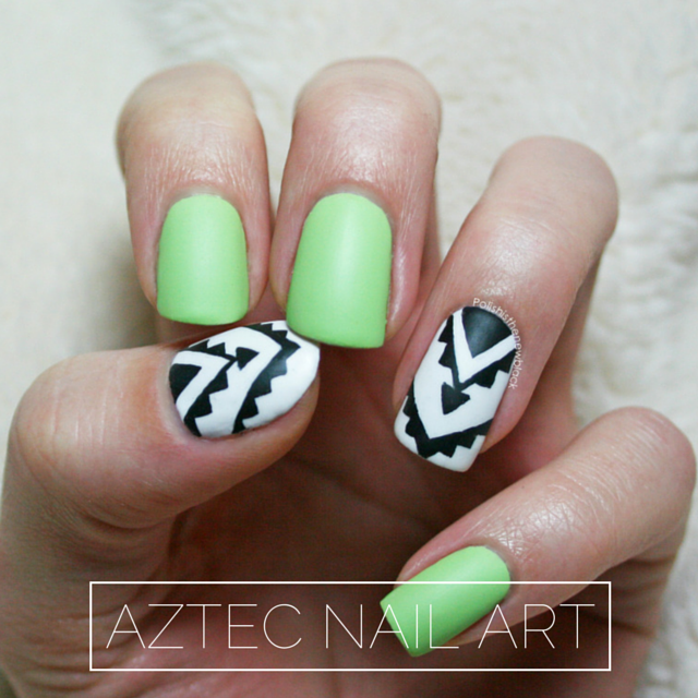 Nail Art Aztec Polish Is The New Black