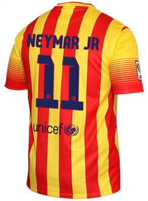 camisa de Neymar do Barça segundo uniforme bandeira senyera 2013 2014