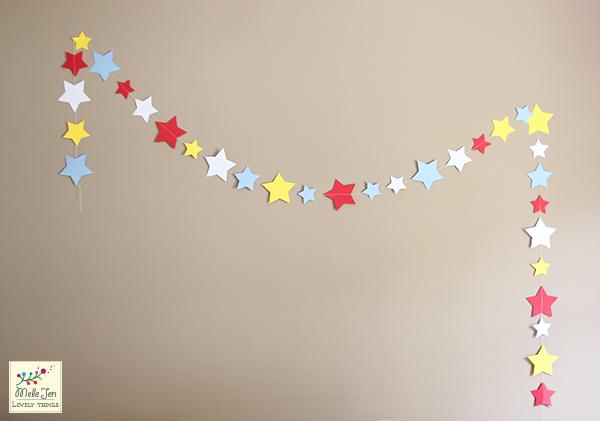 Mademoiselle Jen : Guirlande étoile en papier - DYI