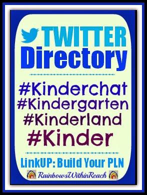 Twitter Directory and LinkUP for Kindergarten Tweeps via RainbowsWithinReach