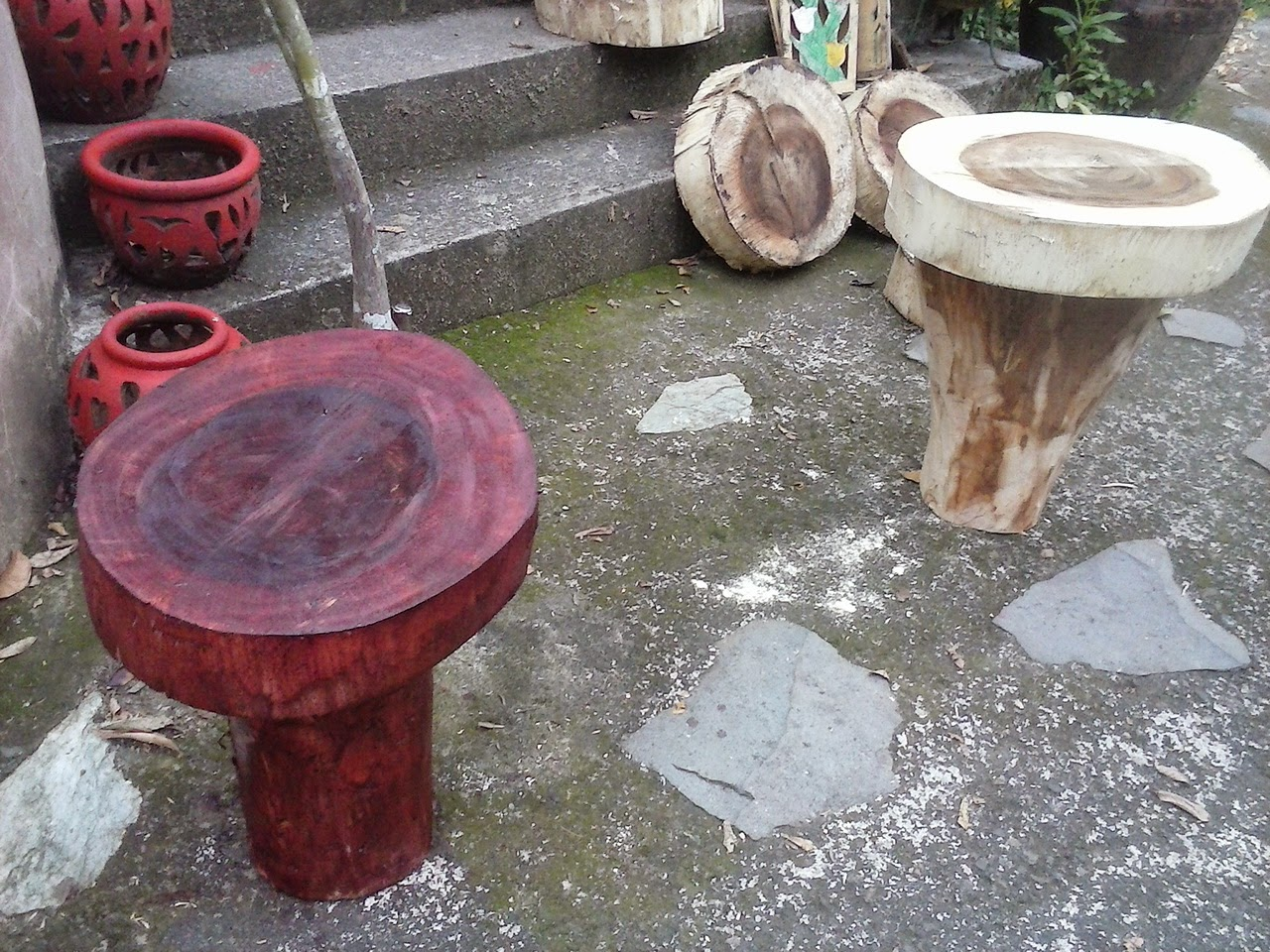 mahogany wood tree trunk table project philippines