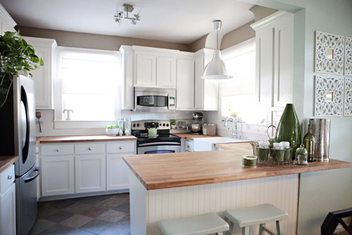 Kitchen Countertops With White Cabinets sense and simplicity: 4 great countertop colours for white kitchens
