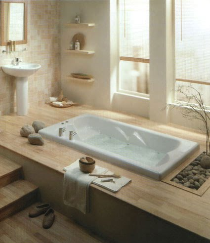 Decorating addiction zen bathroom inspiration for Bathroom decor inspiration