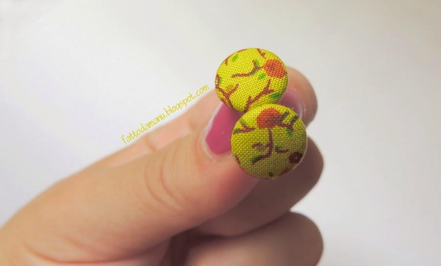 Orecchini Bottoncini - bottoni - Lime
