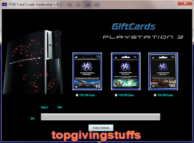PSN Card Code Generator v.6