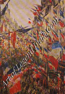 "The Great Artist Claude Monet Painting ""The Rue Montorgueil Decked with Flags"" 1878 235/8"" x 311/2 Musee des Beaux-Arts, Rouen"