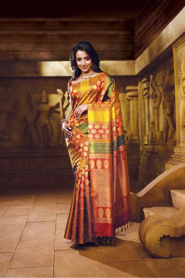 Actress trisha latest saree collection stills gallery