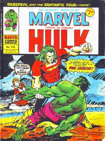 Mighty World of Marvel #110, Doc Samson v the Hulk, Marvel UK