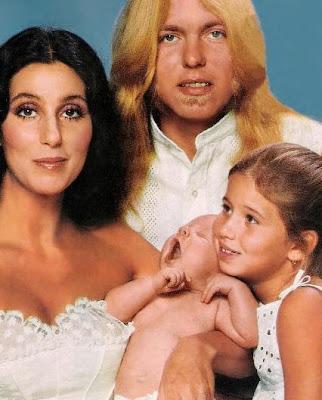 Cher, Gregg Allman, Elijah Allman and Chastity Bono