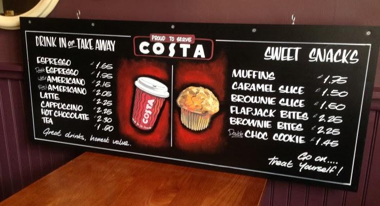 Costa menu