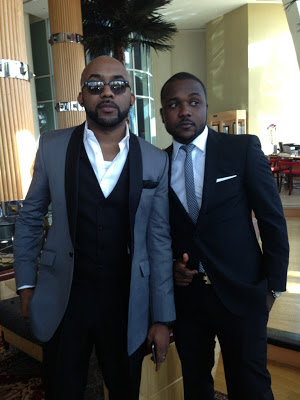 Banky W at 2face's wedding