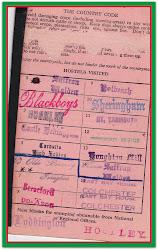 1954/55 YHA Card