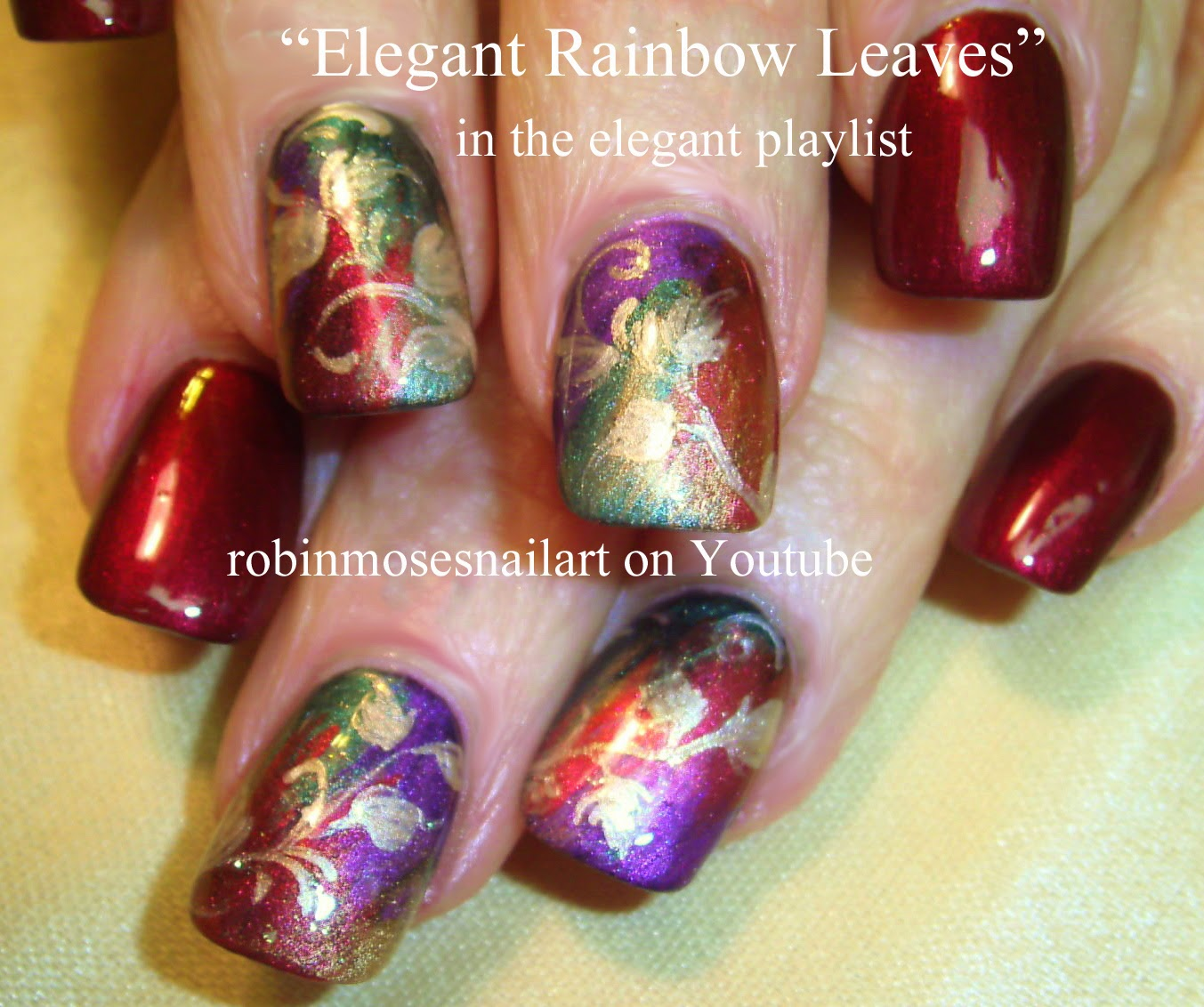"Simple Elegant Fall Nail Designs: Robin Moses Nail Art: ""fall Nails"" ""easy Fall Nails"" ""easy"