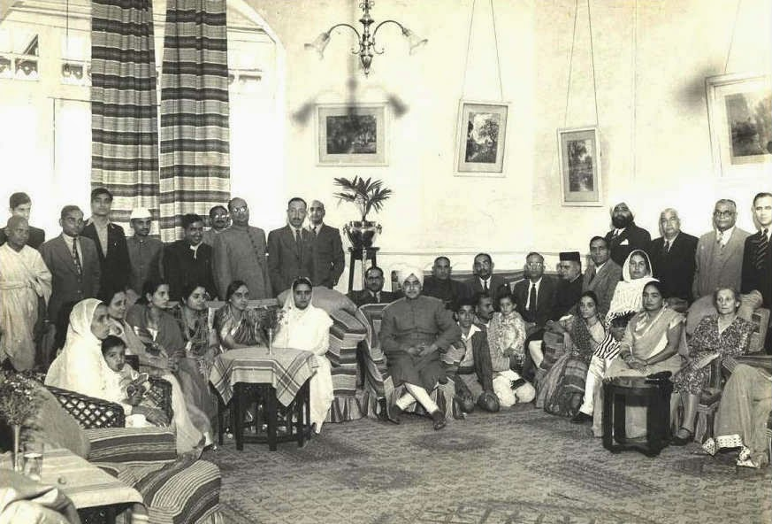 A rare photograph of HH Shri Bhola Nath Ji attending a function at The Savoy hotel