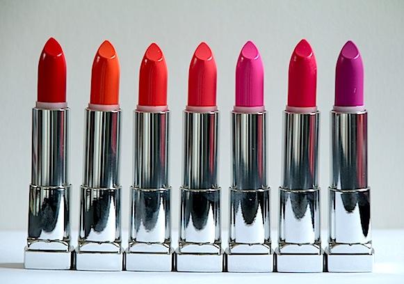 gemey colorsensational rouges lvres vivid test avis swatch - Rouge A Levre Gemey Maybelline Color Sensational