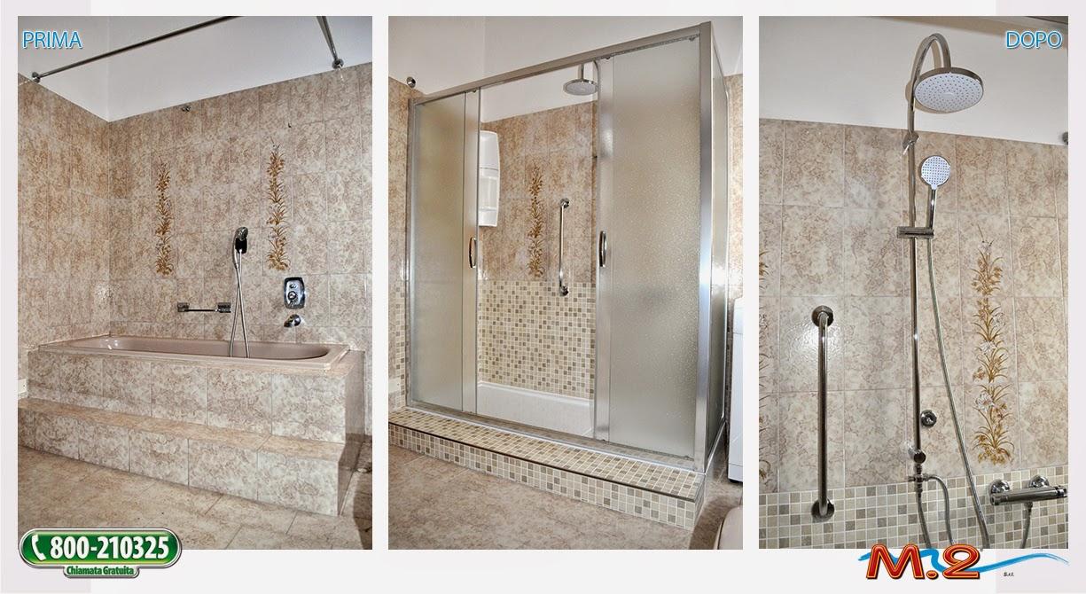 M 2 trasformazione vasca in doccia e sistema vasca nella vasca - Cabina doccia muratura ...