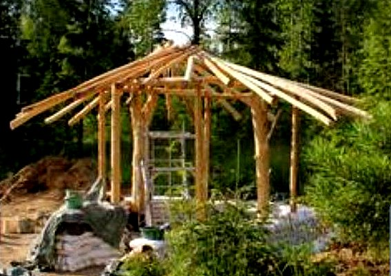 Natural Building Techniques : The flying tortoise heidi s little cottage in a finland