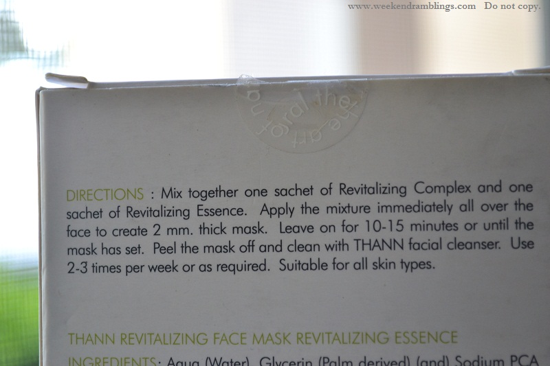 thann revitalizing face mask shiso grapefruit mulberry radiance review use directions how to