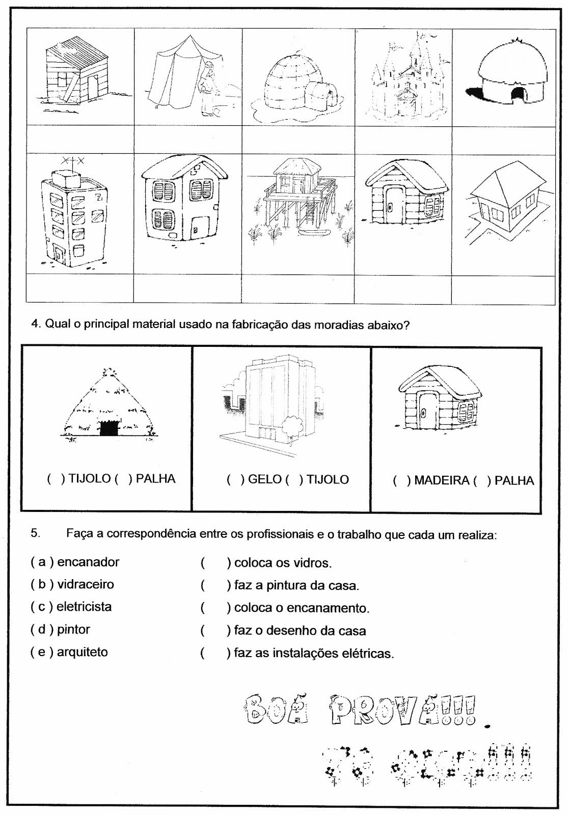 Alegria de Aprender na Educação Infantil DIFERENTES TIPOS DE CASAS