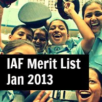 IAF merit list 2013