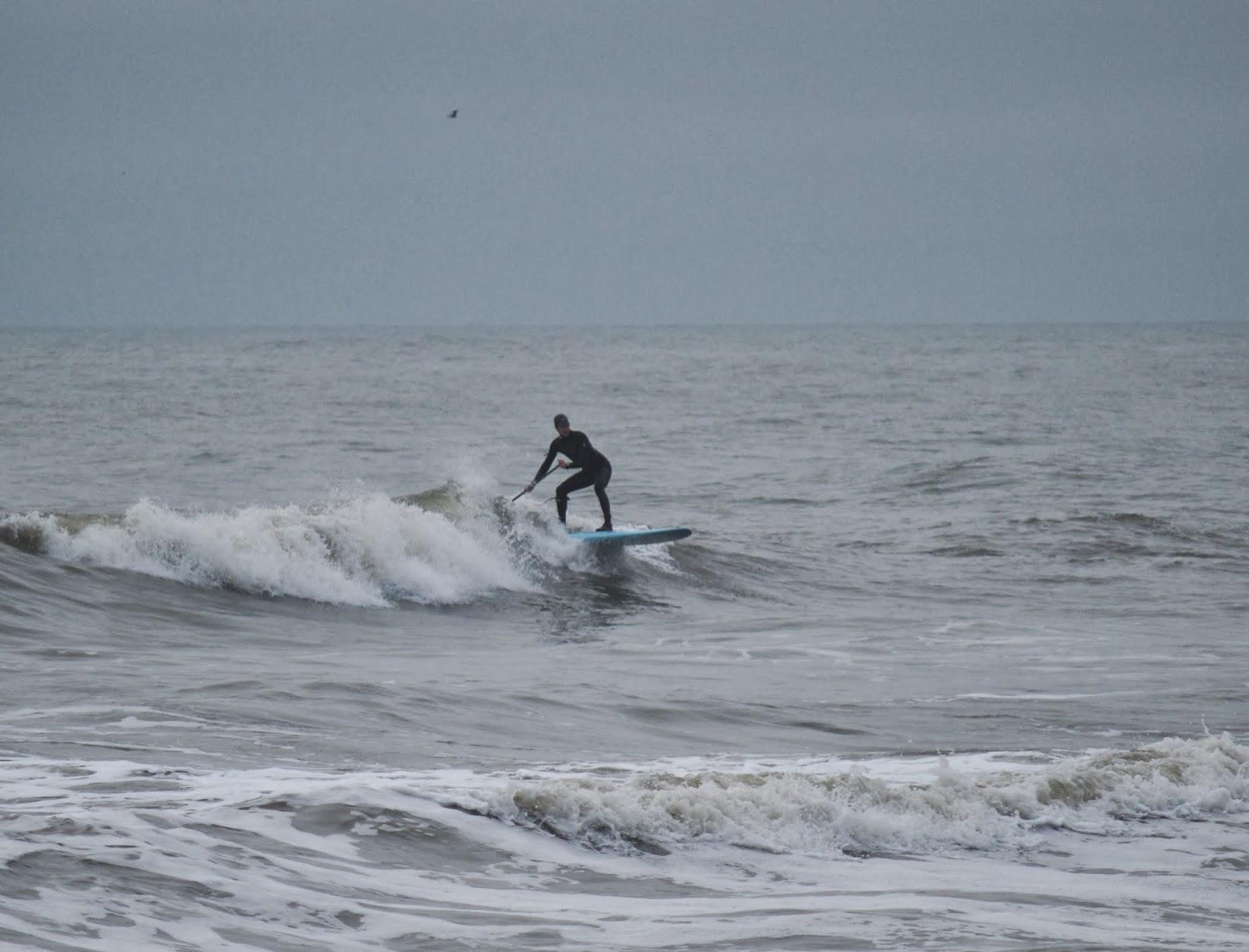 atlantic paddle surfing sup er fun at burkes beach this morning