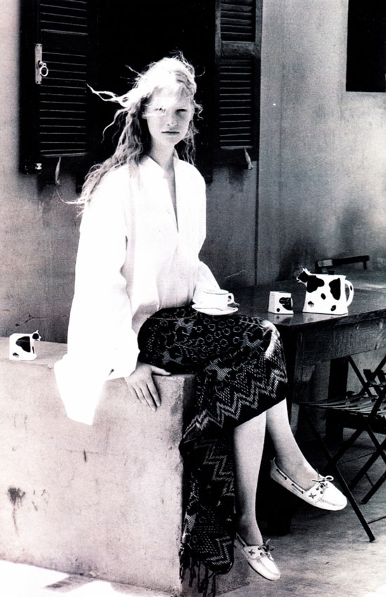 Kirsten Owen in Marie Claire France July/August 1989 (photography: Sacha)