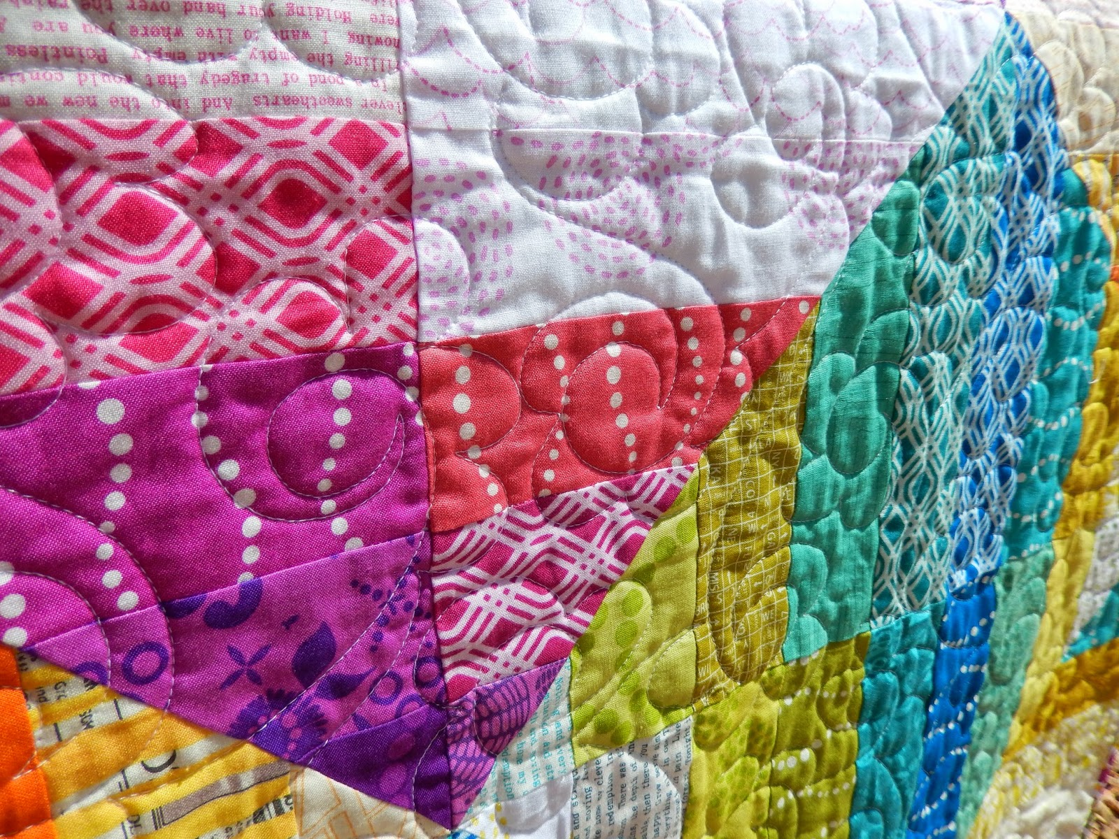 Quilt Patterns With Floral Fabric : Quilting Mod : Sorbet Quilt