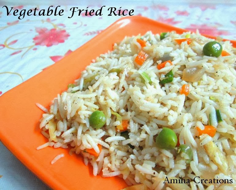 AMINA CREATIONS: VEGETABLE FRIED RICE