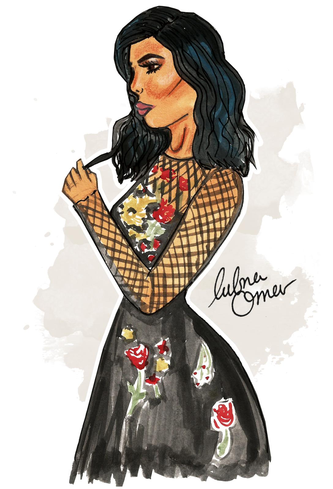 Kylie Jenner illustration by Lubna Omar