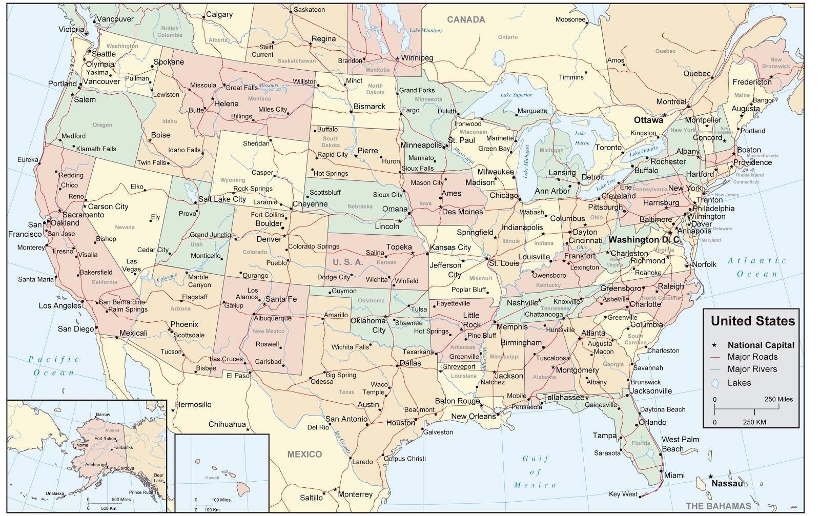 Del Mapa De Usa Noticias De Usa Maine Usa Carreteras De Usa - Mapas usa