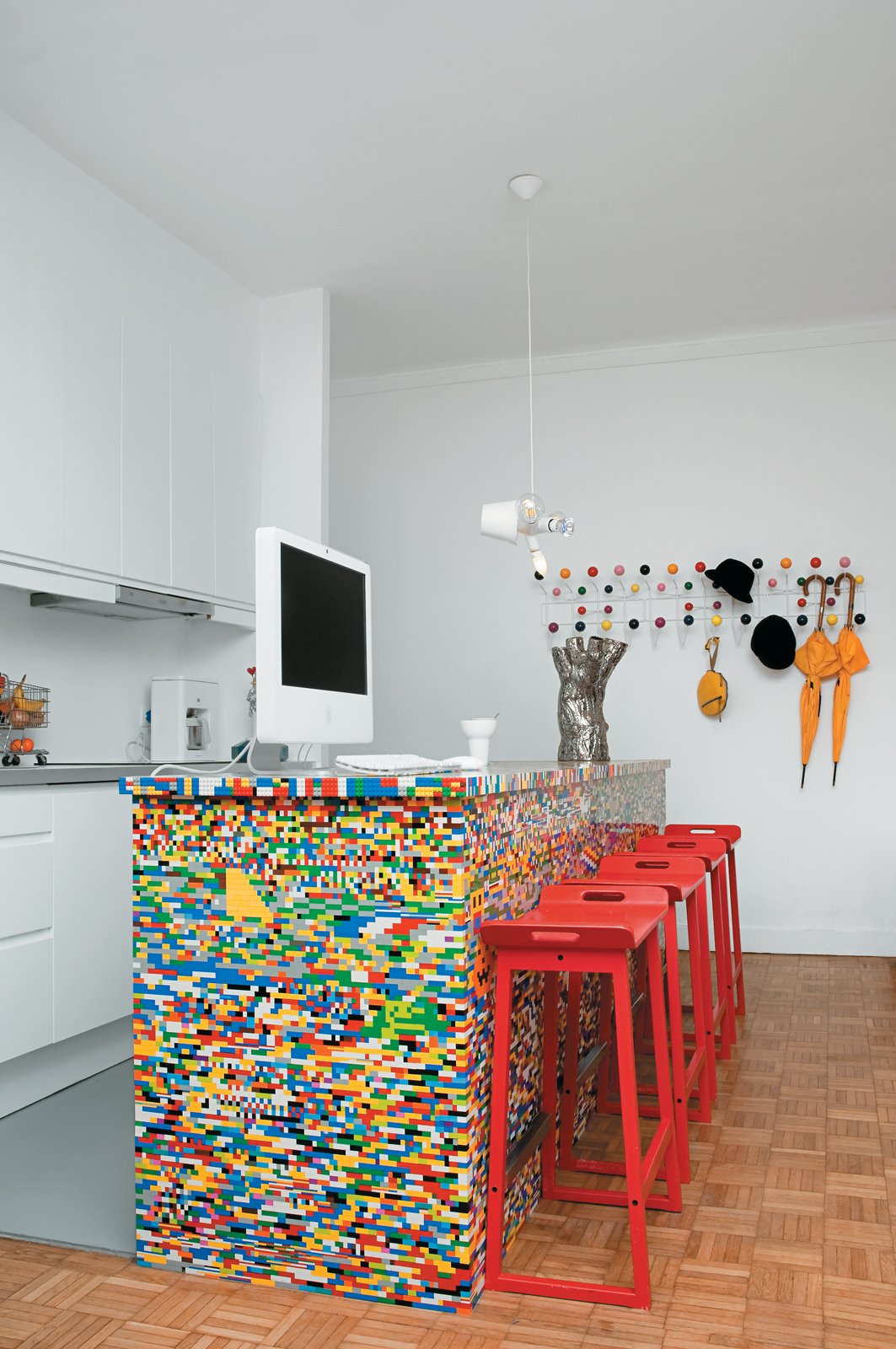 Simon Pillard and Philippe Rossetti's Lego kitchen island