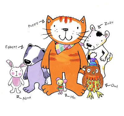 Poppy cat and friends