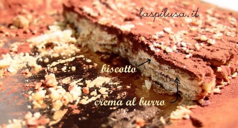 Torta tipica salentina: torta mattonella con crema al burro e caffè