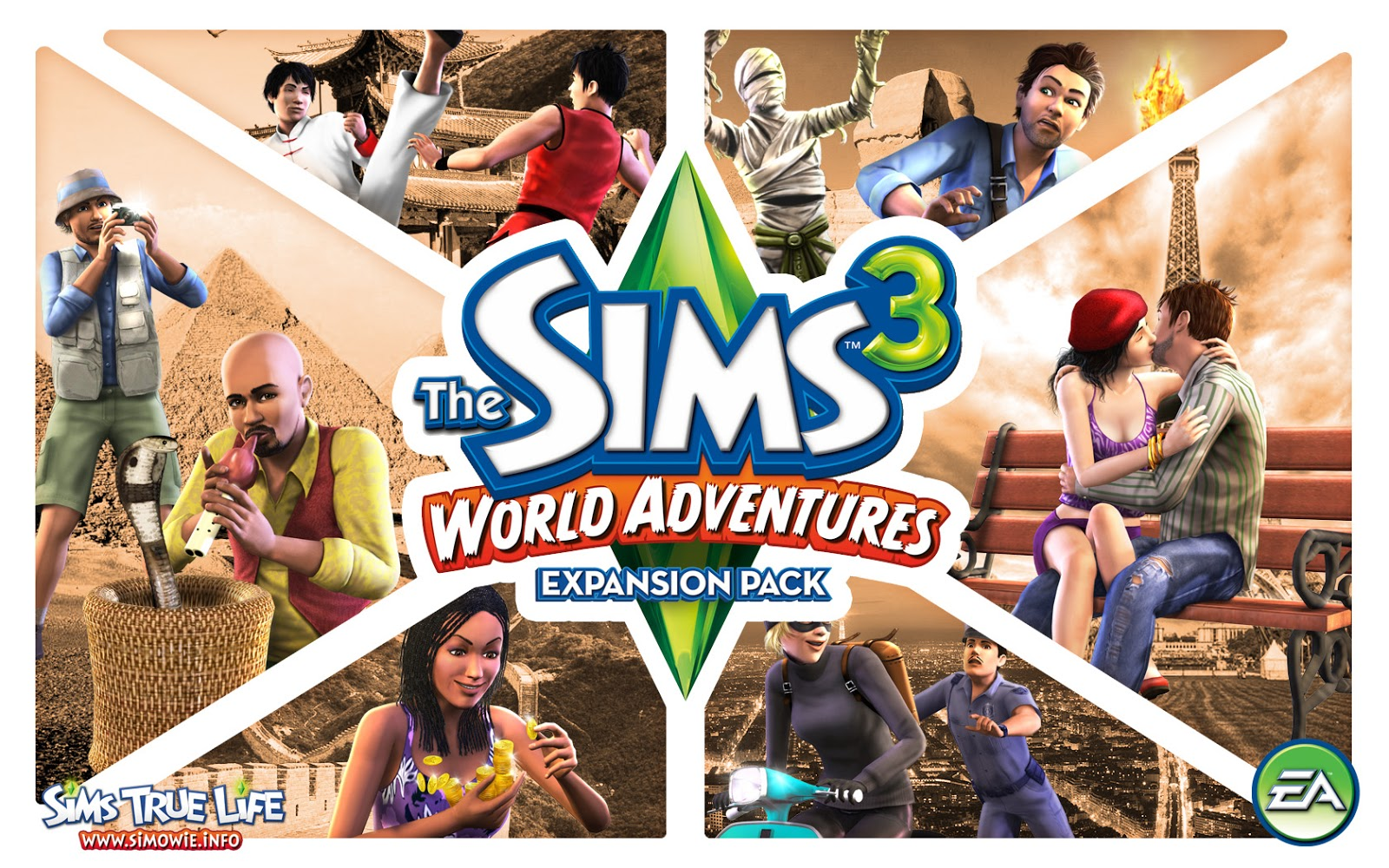 Jogos Java 320x240 The sims 3 world adventures