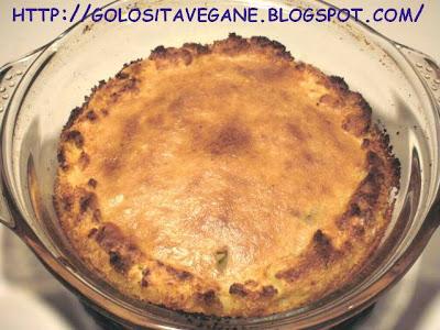 aglio, bauletto, cime di rapa, curcuma, farina, forno, noce moscata, pane grattugiato, panna soia, patate, ricette vegan, Torte salate,