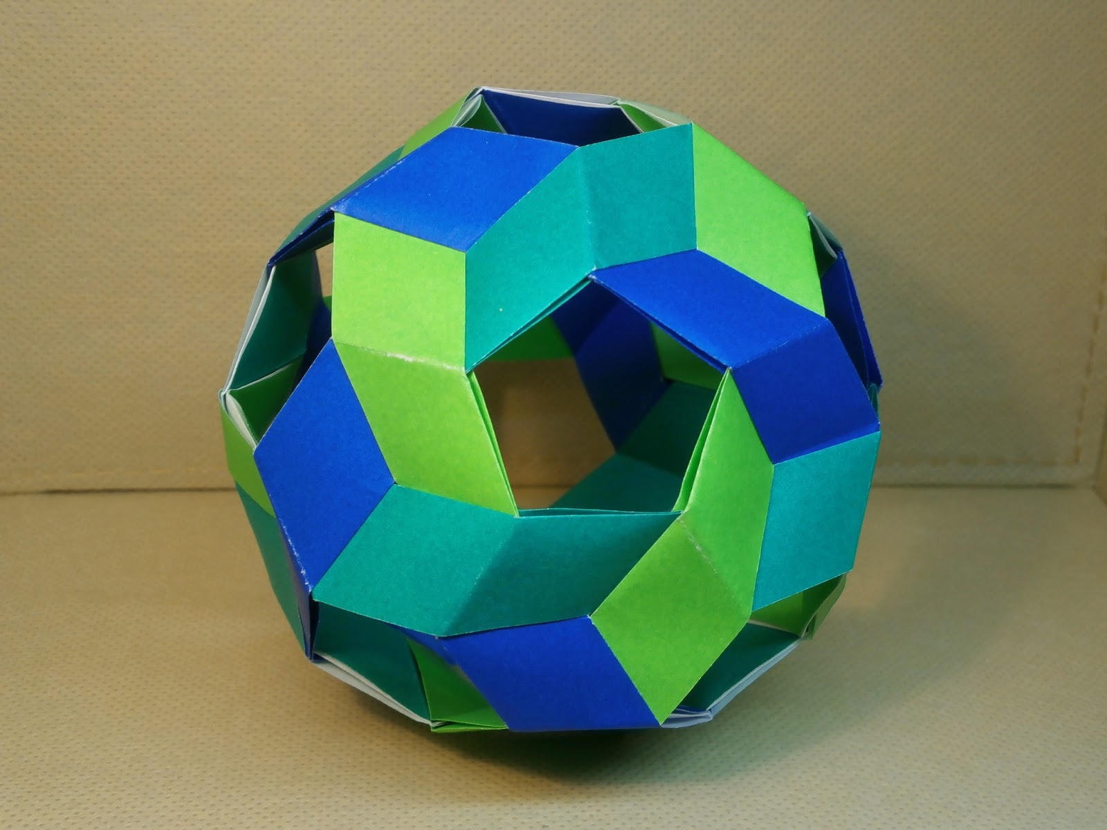 "KATAKOTO ORIGAMI: The way of ""Unit origami ball"" - photo#1"