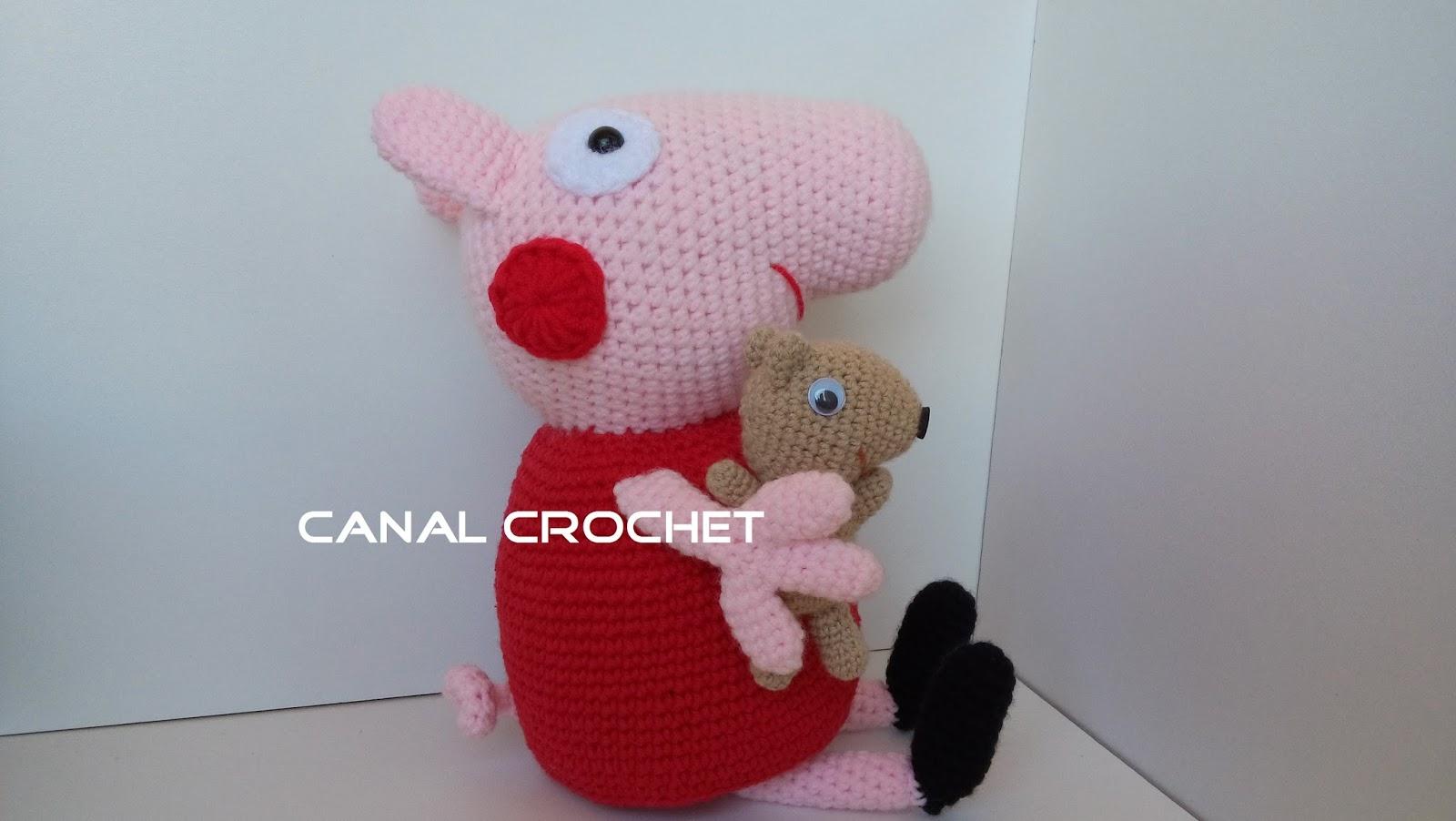 Amigurumi Peppa Pig Mini : CANAL CROCHET: Peppa pig y su osito teddy amigurumi patron ...