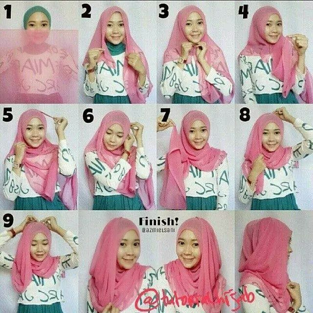 Model Jilbab Modern Segi Empat Jilbab Segi Empat Simple
