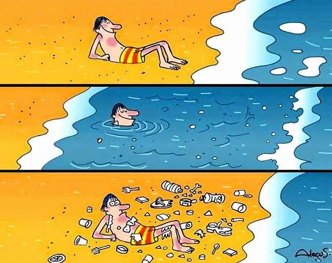 Inilah akibat dari pencemaran laut dan pantai. Ianya paling tidak ingin kita lihat. Hilangnya rasa nikmat kesegaran dan keindahan dalam menikmati alam semulajadi.